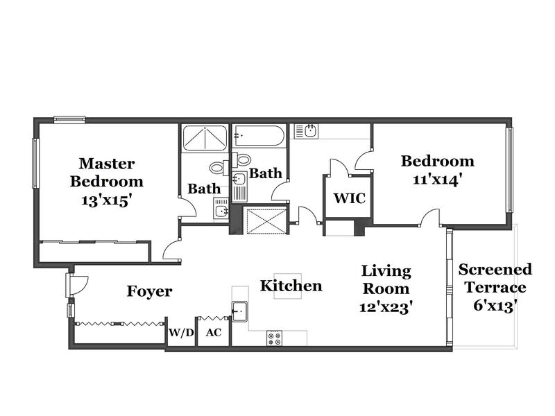 Floor Plan for Angelfish Cay 33 B